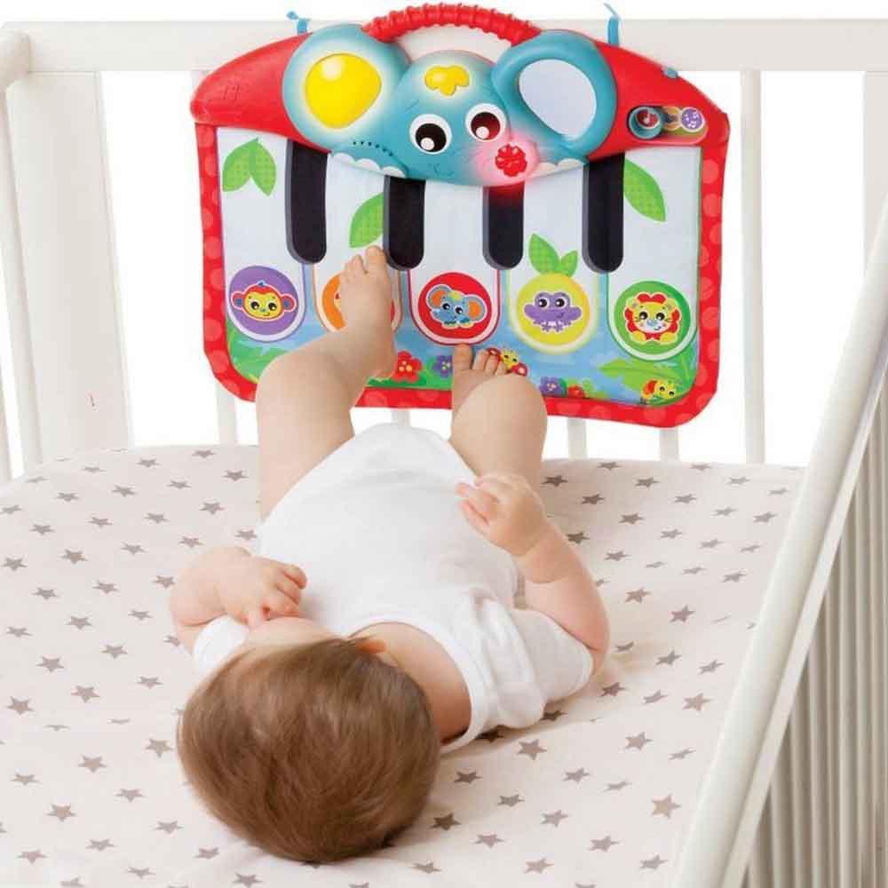 Playgro 4-в-1 Музикално пиано за ръце/крачета със светлини, 0м+