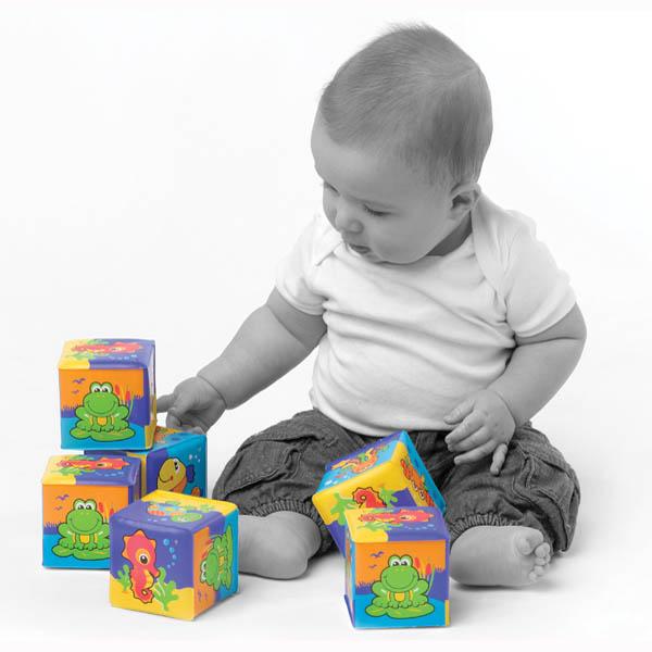 Playgro Меки кубчета за баня  6м+