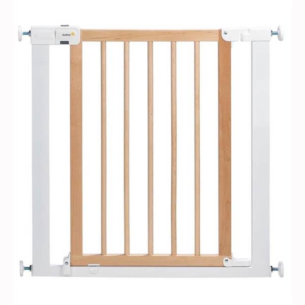 Safety 1st Универсална преграда за врата - метал/дърво бял/бежов цвят