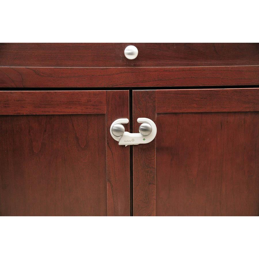 Safety 1st Устройство за заключване на шкаф - 1 бр. – бял цвят