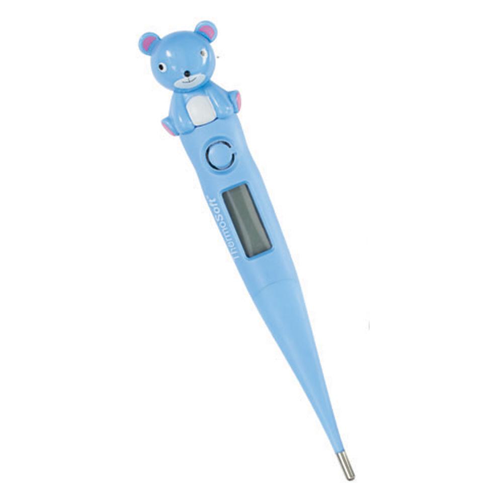 Visiomed Дигитален електронен термометър с гъвкав и мек връх – Thermosoft синьо мече