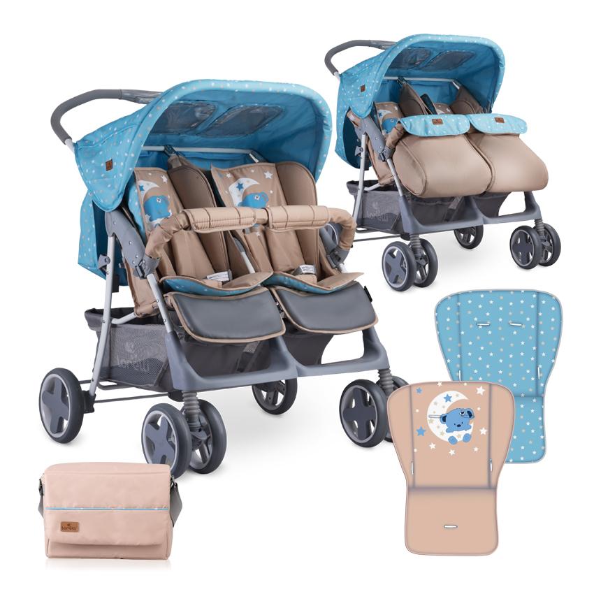 Детска Количка Twin Blue&Beige Moon Bear+Чанта Lorelli 10020071955